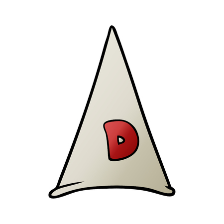 School dunce hat illustration on white background.