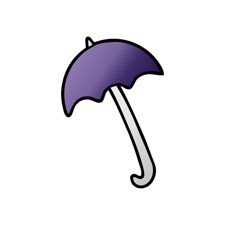 Cartoon umbrella illustration on white background.  イラスト・ベクター素材