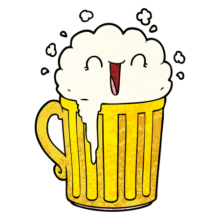 happy cartoon mug of beer Stock Vector - 96501710