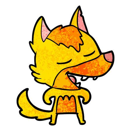 Orange fox cartoon character