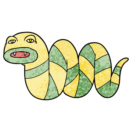 Sleepy cartoon snake
