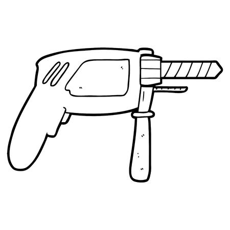 Illustration of cartoon drill Illustration
