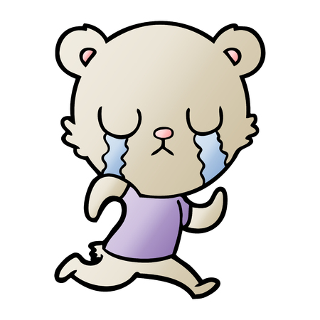 crying bear cartoon chraracter