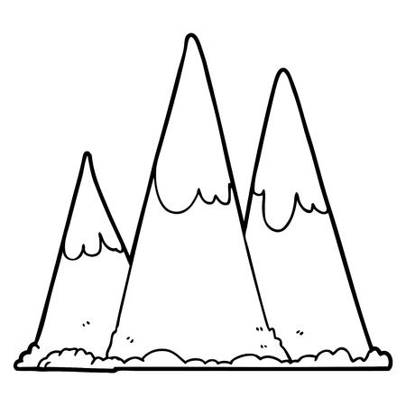 漫画の山々