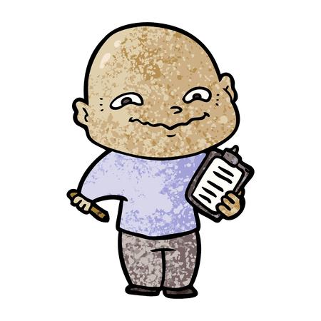cartoon nervous man Ilustração