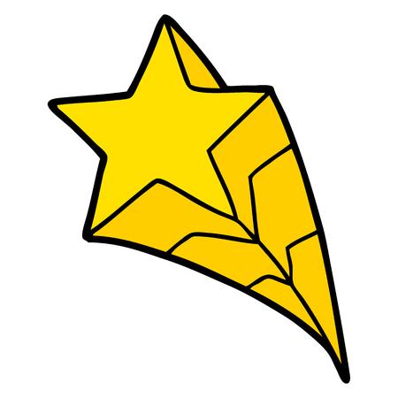 cartoon shooting star Illustration