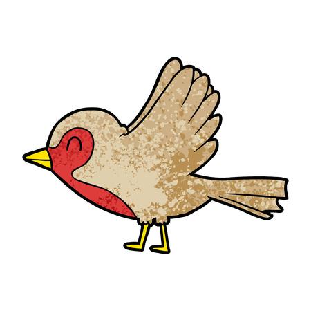 Cartoon Robin , der Flug Standard-Bild - 96545869