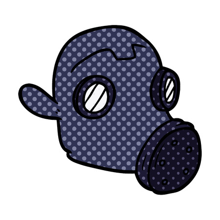 cartoon gas mask Illustration