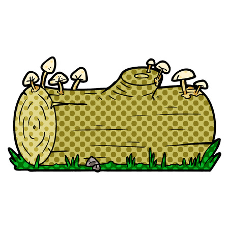 cartoon log 向量圖像