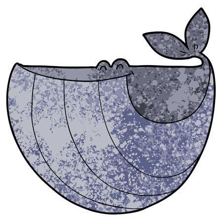 Glücklicher Cartoon-Wal Standard-Bild - 96547227
