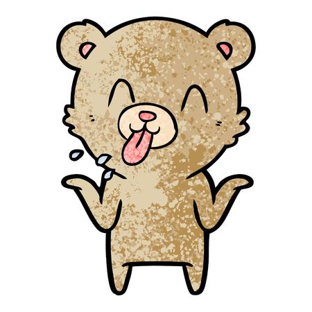 rude cartoon bear  イラスト・ベクター素材
