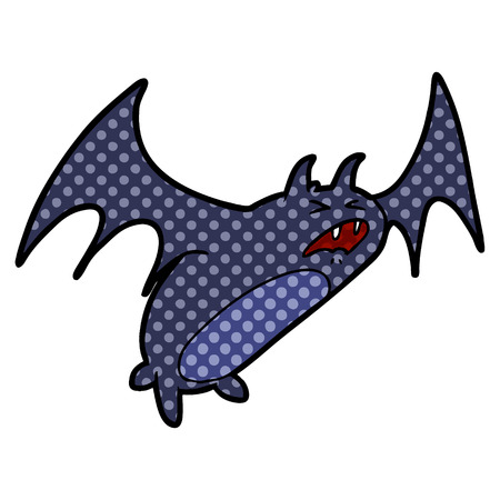 spooky cartoon bat Illustration