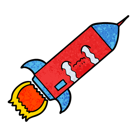 cartoon crying rocket