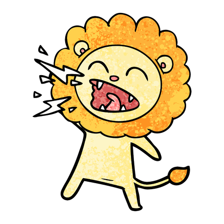 Cartoon rugissant lion Banque d'images - 96552378