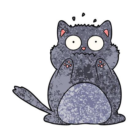 漫画心配猫ベクトルイラスト。