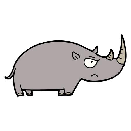 cartoon rhinoceros Ilustracja