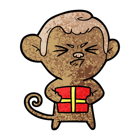 cartoon angry monkey Stok Fotoğraf - 96552532