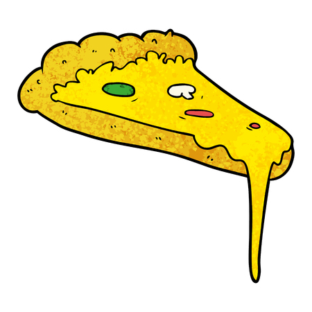 cartoon slice of pizza Vector illustration.