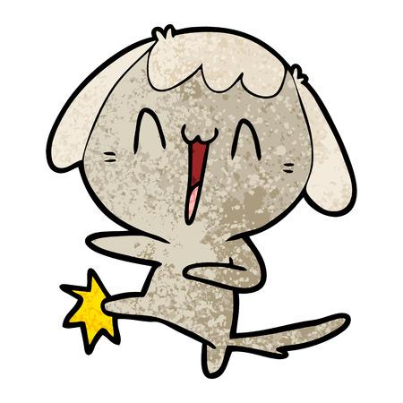 cartoon laughing dog kicking Stok Fotoğraf - 96552825