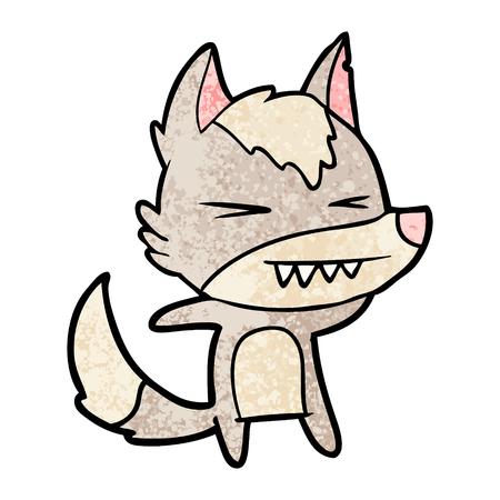 angry wolf cartoon Stock Vector - 96552834