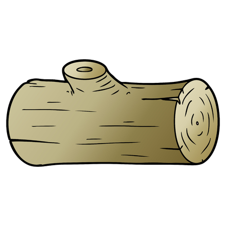 cartoon log Vector illustration.