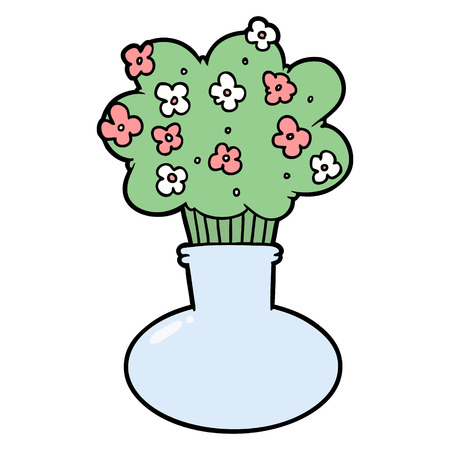 cartoon flowers in vase