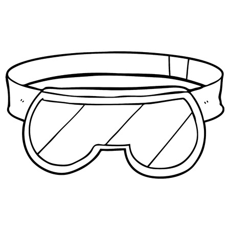 cartoon safety goggles