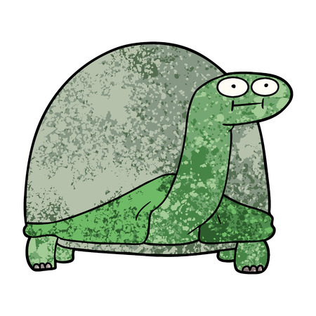cartoon tortoise Vector illustration. Stock Illustratie