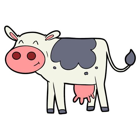 cartoon cow illustration. Çizim
