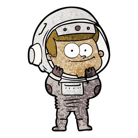 happy astronaut cartoon Vector illustration. Illustration