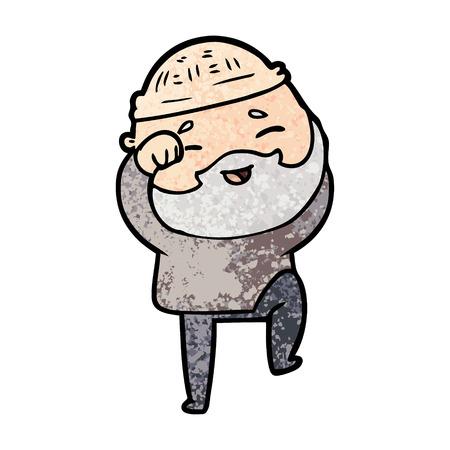Cartoon homme barbu heureux Banque d'images - 96553198