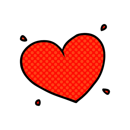 cartoon love heart 矢量图像