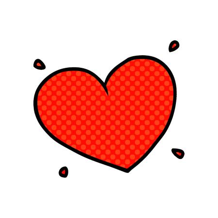 cartoon love heart Vettoriali