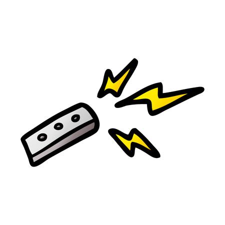 cartoon remote control illustration.