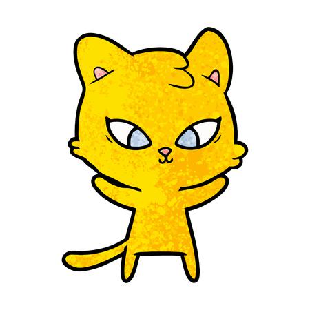 cute cartoon cat Stock Vector - 96553560
