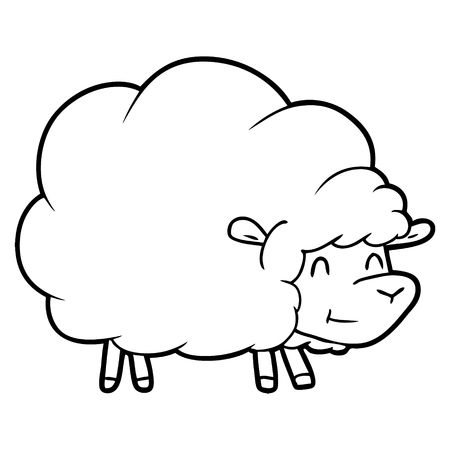 cartoon sheep Vector illustration.