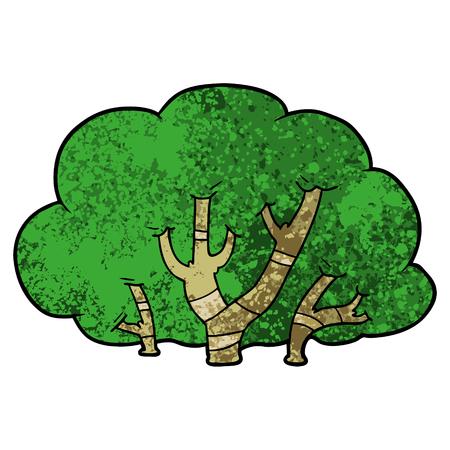 cartoon trees Иллюстрация