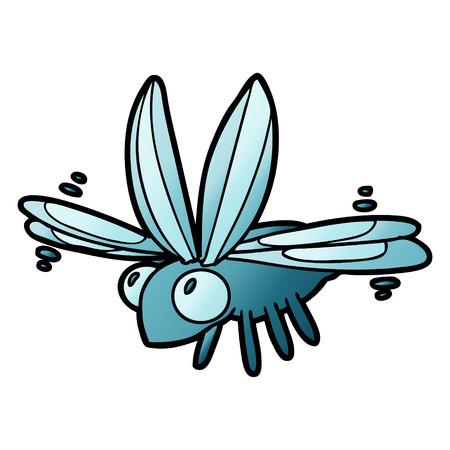 cute cartoon bug flying