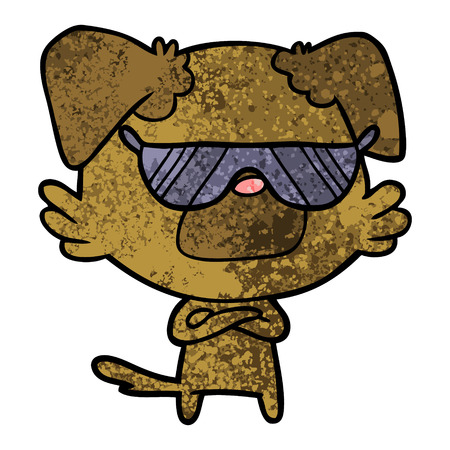 cartoon dog Vector illustration. 일러스트