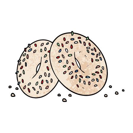 cartoon bagels