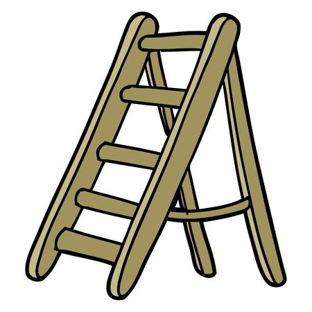 cartoon ladder Vector illustration.