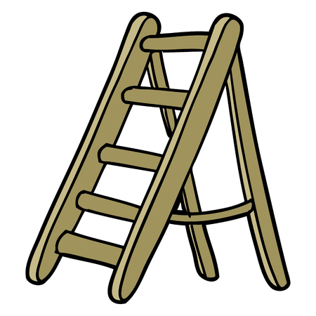 cartoon ladder Vector illustration.