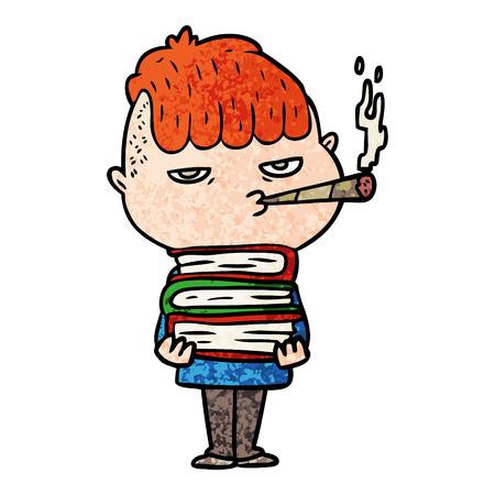 Cartoon Mann Rauchen Standard-Bild - 96554063