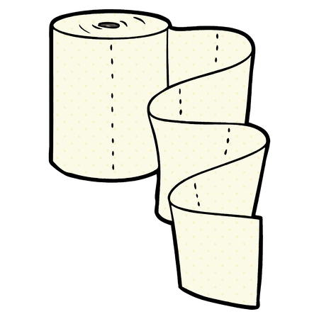 cartoon kitchen roll Vector illustration.