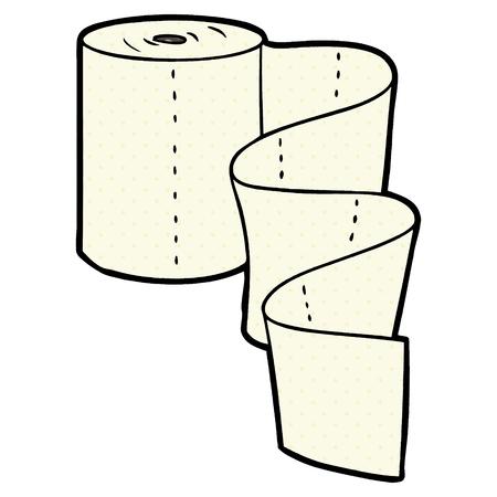 cartoon kitchen roll Vector illustration.