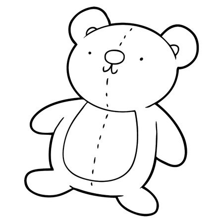 cartoon stuffed toy bear Illustration