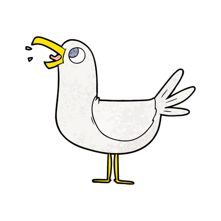 cartoon seagull