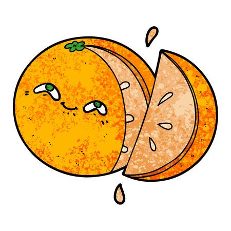 cartoon orange Vector illustration. Stock Illustratie