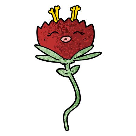 happy cartoon flower