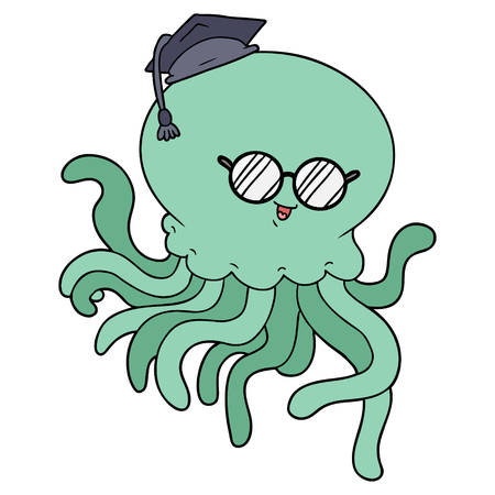cartoon jellyfish in love